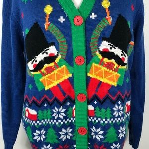 Merry Christmas Sweaters - Nutcracker Drummer Boy Christmas Sweater Size L